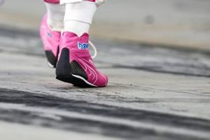 The boots of Lance Stroll, Racing Point