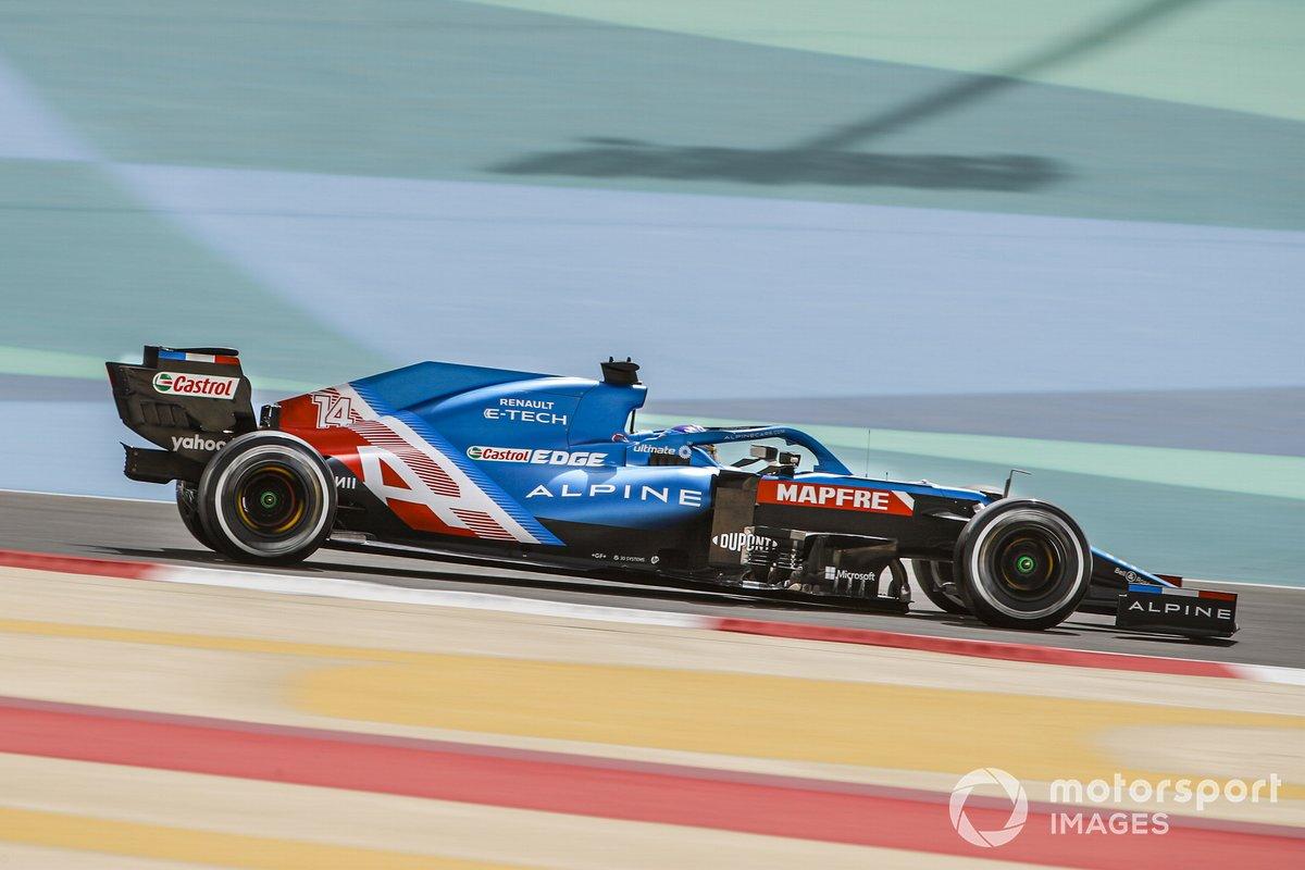 9º Fernando Alonso, Alpine A521, 1:30.318 (con el neumático C4)