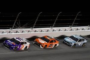 Denny Hamlin, Joe Gibbs Racing, Toyota Camry, Bubba Wallace, 23XI Racing, Toyota Camry, Kevin Harvick, Stewart-Haas Racing, Ford Mustang Busch Light #TheCrew