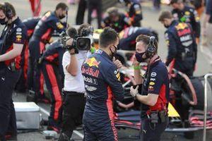 Alex Albon, Red Bull Racing, on the grid