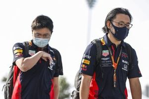 Red Bull engineers arrive at the circuit