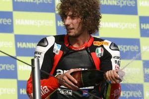 Podio: terzo classificato Marco Simoncelli, Aprilia