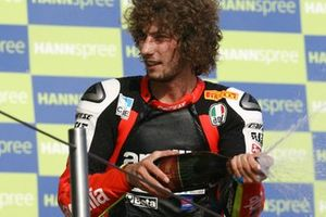 Podio: tercer lugar Marco Simoncelli, Aprilia
