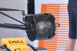 McLaren MCL35M front brake duct detail