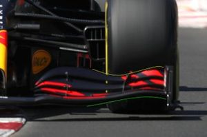 Red Bull Racing RB14B front wing detail