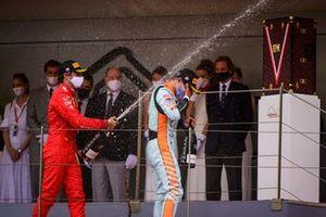 Carlos Sainz, Ferrari,Lando Norris, McLaren