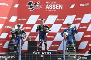 Podium: race winner Fabio Quartararo, Yamaha Factory Racing, second place Maverick Vinales, Yamaha Factory Racing, third place Joan Mir, Team Suzuki MotoGP