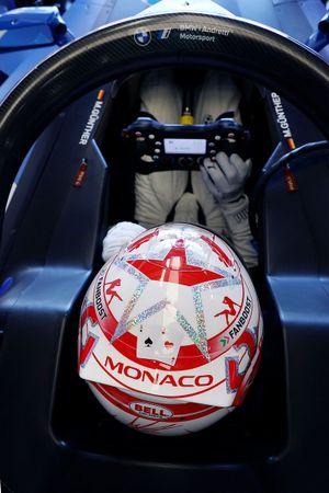 Maximilian Günther, BMW i Andretti Motorsport wit a special Monaco helmet design