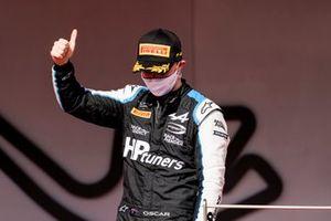 Oscar Piastri, Prema Racing, 3rd position, on the podium