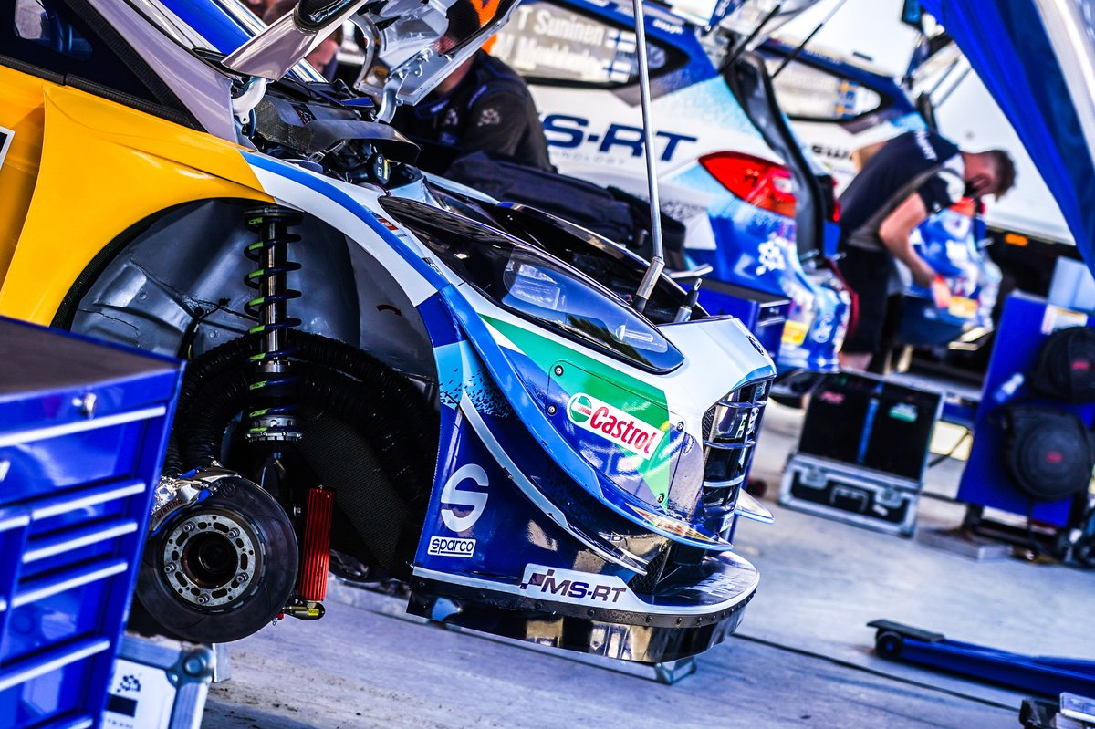 Coche de Adrien Fourmaux, Renaud Jamoul, M-Sport Ford WRT Ford Fiesta WRC