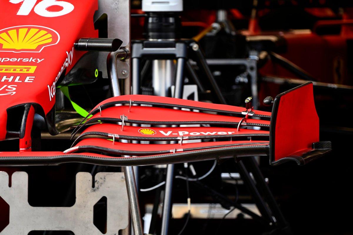 Detalle del alerón delantero del Ferrari SF21