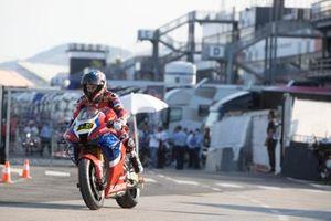 Alvaro Bautista, Team HRC, sur la nouvelle place dans l'enceinte du circuit de Misano