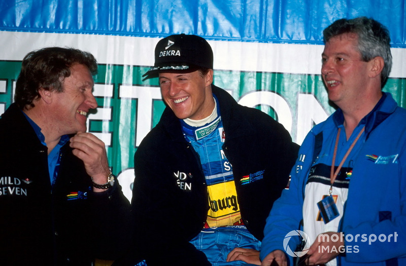 Michael Schumacher, Benetton con Tom Walkinshaw, Benetton y Pat Symonds, Benetton