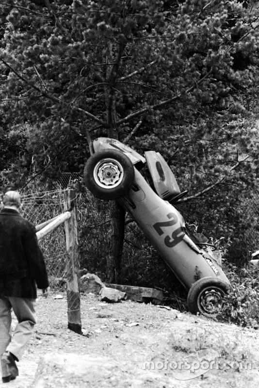 Choque de Carel Godin de Beaufort, Porsche 718