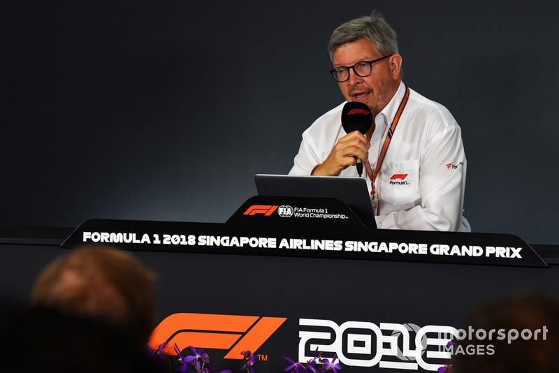 Ross Brawn, Dyrektor Zarządzający ds. Sportowych w Formule 1, konferencja prasowa