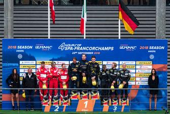 Podium: #80 Ebimotors Porsche 911 RSR: Fabio Babini, Riccardo Pera, Bret Curtis