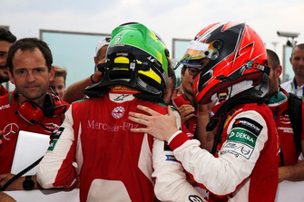 Race winner Mick Schumacher, PREMA Theodore Racing Dallara F317 - Mercedes-Benz and Marcus Armstrong, PREMA Theodore Racing Dallara F317 - Mercedes-Benz