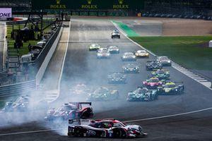 Départ : #2 United Autosports Ligier JS P3 - Nissan: John Falb, Sean Rayhall, part en tête à queue