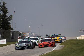 #86 Michael Shank Racing with Curb-Agajanian Acura NSX, GTD - Katherine Legge, Alvaro Parente, #93 Michael Shank Racing with Curb-Agajanian Acura NSX, GTD - Lawson Aschenbach, Justin Marks