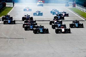 Start der Formel 2 in Spa 2018