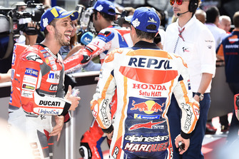 Polesitter Marc Marquez, Repsol Honda Team, 2. Andrea Dovizioso, Ducati Team