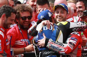 Race winner Andrea Dovizioso, Ducati Team, Cal Crutchlow, Team LCR Honda
