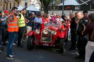 Sebastian Vettel, Ferrari dans une voiture historique