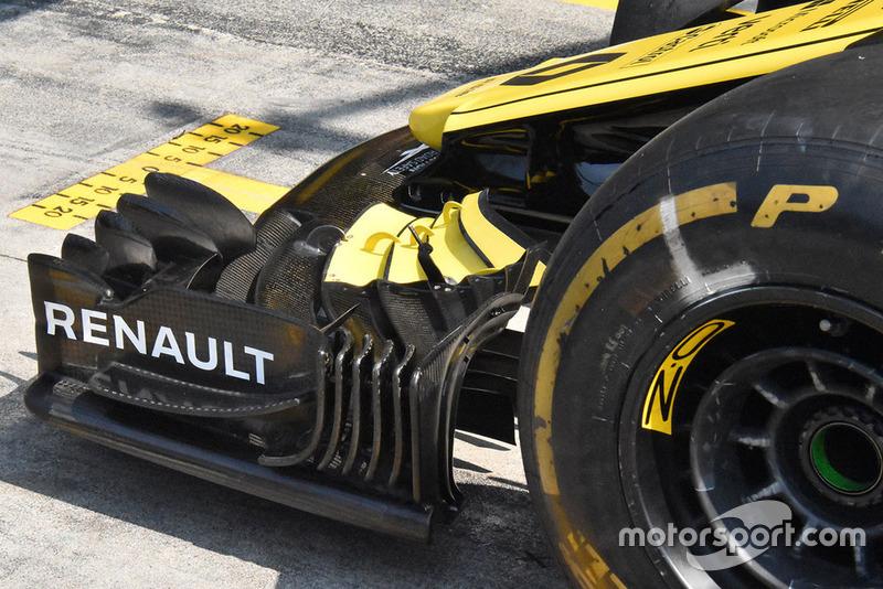 Renault F1, első szárny, részlet