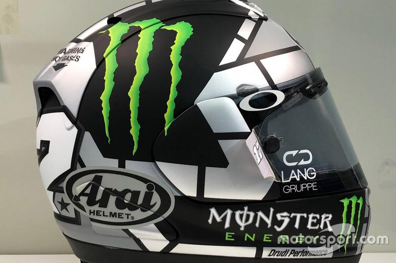 Il casco di Maverick Vinales, Yamaha Factory Racing