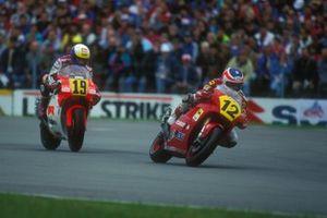 Alex Barros, Cagiva; John Kocinski, Yamaha