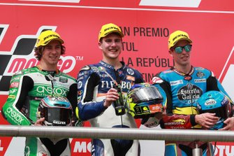 Podium: winner Lorenzo Baldassarri, Pons HP40, second place Remy Gardner, SAG Racing Team, third placeAlex Marquez, Marc VDS Racing