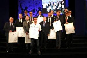 Foto di gruppo dei piloti con Jean Todt, Presidente FIA