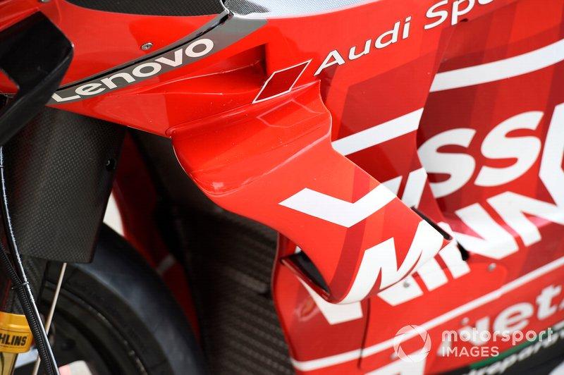 Detalhe da carenagem da Ducati