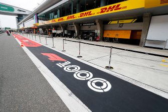 1000th Race Branding in pit lane