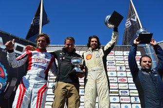 Podio: ganador Horacio García, MINI; segundo Fernando Etchegorry, Toyota y tercero Fabricio Larratea, Citroen
