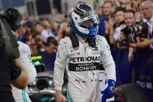 Valtteri Bottas, Mercedes AMG F1, 2nd position, in Parc Ferme