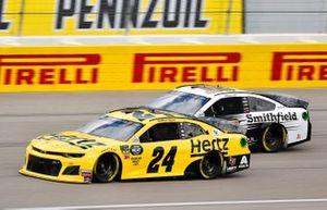 William Byron, Hendrick Motorsports, Chevrolet Camaro Hertz, Aric Almirola, Stewart-Haas Racing, Ford Mustang Smithfield