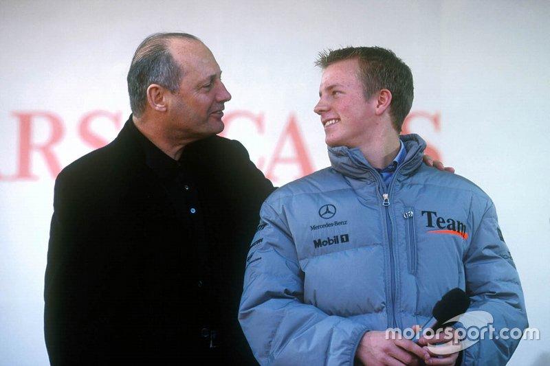 Kimi Raikkonen with Ron Dennis