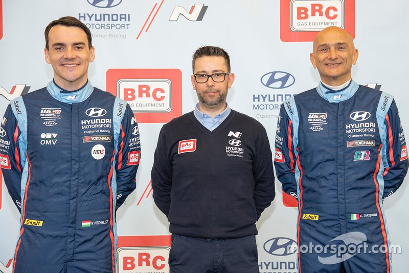 Norbert Michelisz, Gabriele Palmitesta, Gabriele Tarquini, Hyundai BRC Team