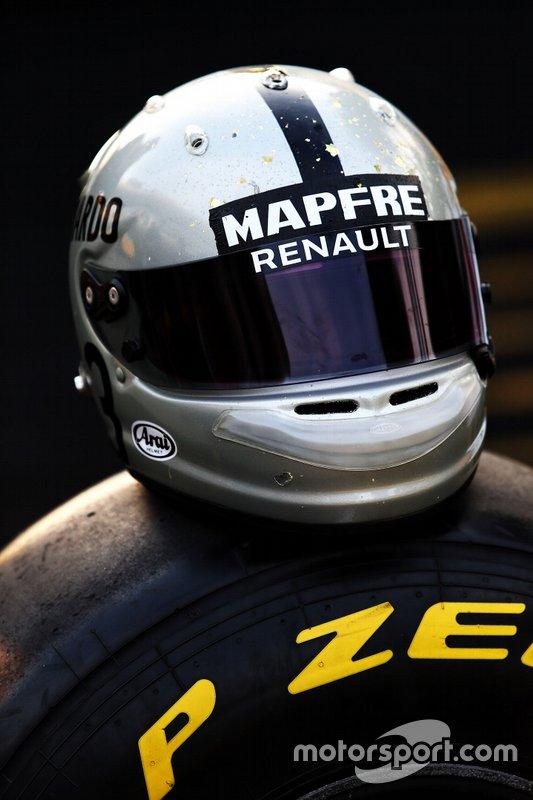 Le casque de Daniel Ricciardo, Renault F1 Team