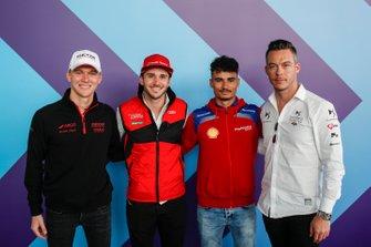 German drivers Maximilian Gunther, Dragon Racing, Daniel Abt, Audi Sport ABT Schaeffler, Pascal Wehrlein (DEU), Mahindra Racing, Andre Lotterer, DS TECHEETAH