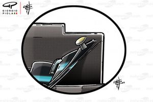 Mercedes W10 front wing close-up