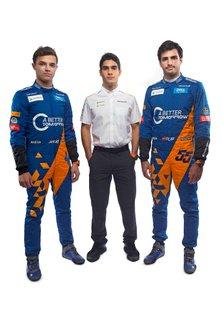 Lando Norris, McLaren, Carlos Sainz Jr., McLaren, Sergio Sette Camara, McLaren