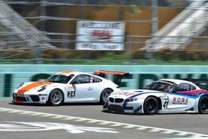#41 MP1A BMW M4 GT3 driven by John Estupinan and Adam Yunis of TLM Racing, #24 MP1B Porsche GT3 Cup driven by Adan Ramos & George Hazbun of NGT Motorsports