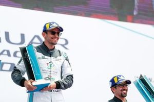 Bandar Alesayi, Saudi Racing, Ahmed Bin Khanen, Saudi Racing, with their 1st, 3rd placed trophies on the podium