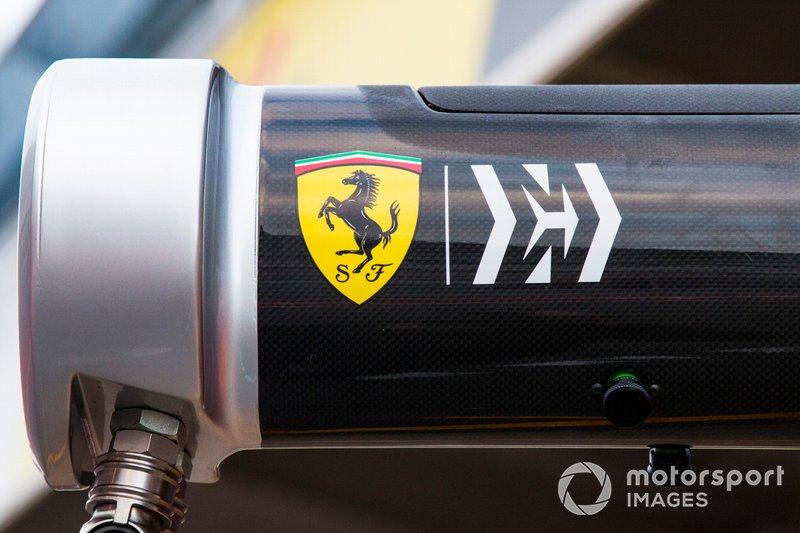 Dettaglio del box Ferrari