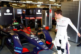 Robin Frijns with his Envision Virgin Racing, Audi e-tron FE05