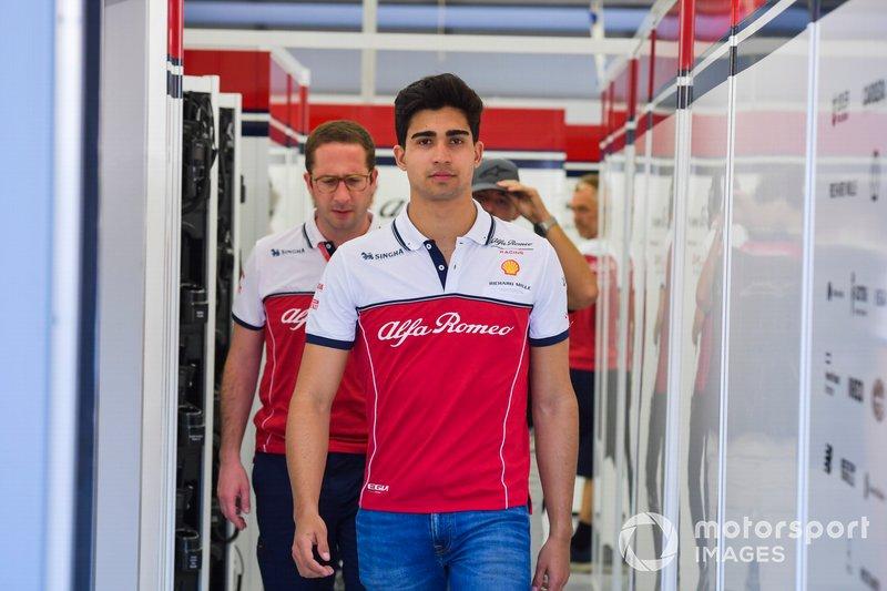 Juan Manuel Correa, Alfa Romeo Racing, Geliştirme pilotu
