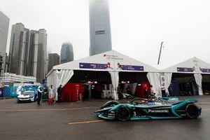 Nelson Piquet Jr., Panasonic Jaguar Racing, Jaguar I-Type 3 heads down the pit lane