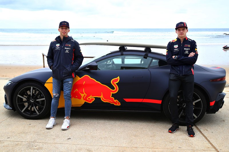 Max Verstappen, Red Bull Racing and Pierre Gasly, Red Bull Racing